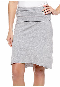 Rollover Hi Low Midi Skirt