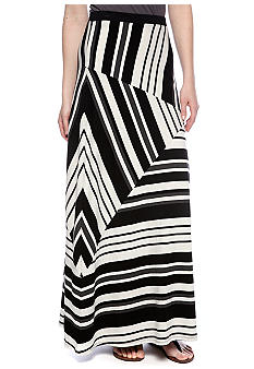 Calvin Klein Performance Mixed Direction Stripe Maxi Skirt