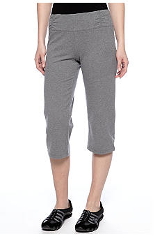 Calvin Klein Performance Crop Pant with Double Ruched Waistband