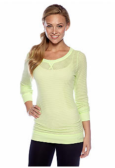 Calvin Klein Performance Long Sleeve Mesh Top