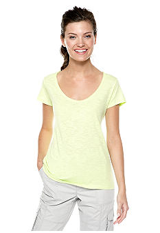 Calvin Klein Performance Back Cut Out Hi Low Tee