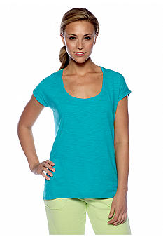 Calvin Klein Performance Solid Front Stripe Back Tee
