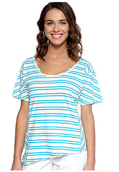 Calvin Klein Performance Short Sleeve Highway Stripe Boxy Tee