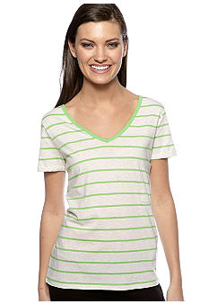 Calvin Klein Performance Short Sleeve Pencil Stripe Pocket Tee