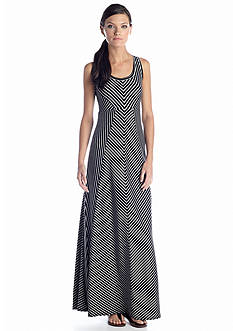 Calvin Klein Performance Sleeveless Striped Maxi Dress