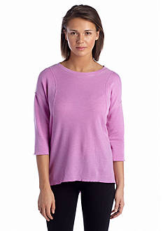 Calvin Klein Performance Textured Tunic High-Low Top