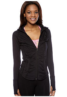 Calvin Klein Performance Ruched Workout Zip Up Jacket