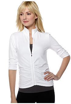 Calvin Klein Performance 3/4 Ruched Sleeve Active Jacket
