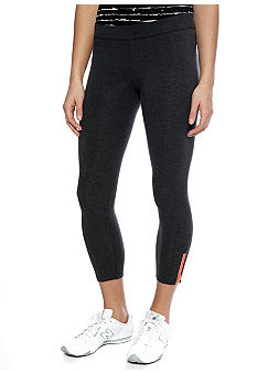 Calvin Klein Performance Crop Legging with Two Color Zipper