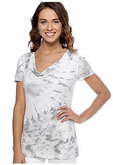 Calvin Klein Performance Tie Dye Short Sleeve Cowl Neck Tee