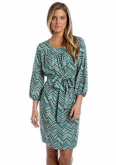Under Skies Chevron Printed Dress