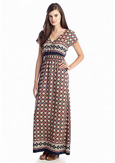 Under Skies Geo Maxi Dress