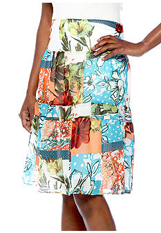 Skye's the Limit Mediterraneo Printed Tiered Skirt
