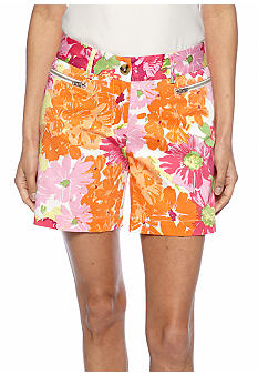 Skye's the Limit Petite Mediterraneo Floral Print Short