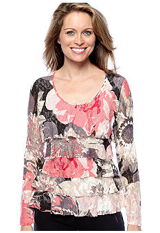 Skye's the Limit Winter Garden Lace Ruffle Top