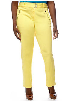 Skye's the Limit Plus Size Extended Waist Straight Leg Jean