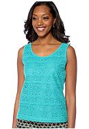 Skye's the Limit Elegant Explorer Lace Front Tank
