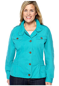 Skye's the Limit Plus Size Elegant Explorer Cinched Waist Jacket
