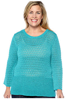 Skye's the Limit Plus Size Elegant Explorer Flare Pullover Sweater