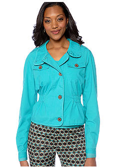 Skye's the Limit Petite Elegant Explorer Cinched Waist Jacket