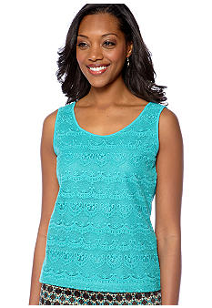 Skye's the Limit Petite Elegant Explorer Lace Front Tank
