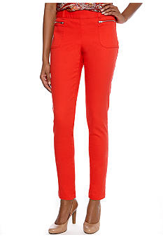 Skye's the Limit Impulsive Slim Ankle Pant with Zipper Pockets