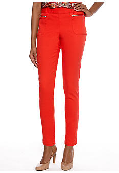 Skye's the Limit Petite Impulsive Slim Ankle Pant with Zipper Pockets
