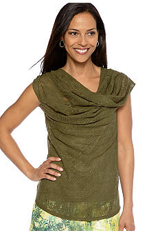 Skye's the Limit Wish You Were Here Twist Cowl Neck Top