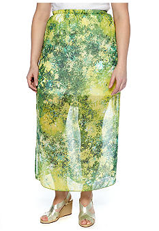 Skye's the Limit Plus Size Wish You Were Here Maxi Skirt