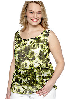 Skye's the Limit Plus Size Wish You Were Here Georgette Tank