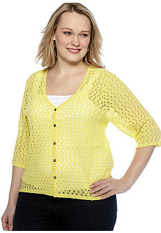 Skye's the Limit Plus Size Wish You Were Here Hi Lo Hem Cardigan