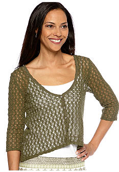 Skye's the Limit Petite Wish You Were Here Hi Low Cardigan