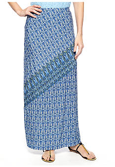 Skye's the Limit La Isla Bonita Asymmetrical Printed Maxi Skirt