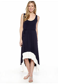 La Isla Bonita Belted Hi Low Dress