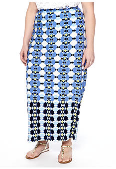 Skye's the Limit Plus Size La Isla Bonita Printed Maxi Skirt