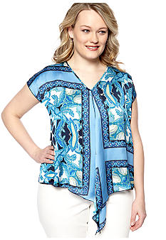 Skye's the Limit Plus Size La Isla Bonita Boxy Flounce Blouse