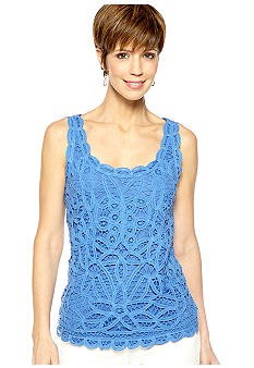 Skye's the Limit Petite La Isla Bonita Crochet Lace Tank