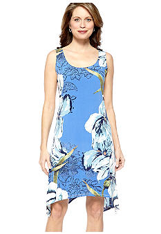 Skye's the Limit Petite La Isla Bonita Printed Drape Hem Tank Dress