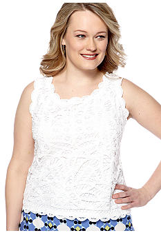 Skye's the Limit Plus Size Essential Crochet Lace Tank