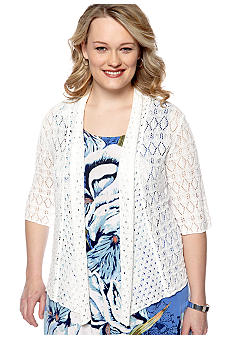 Skye's the Limit Plus Size Essential Pointelle Shrug