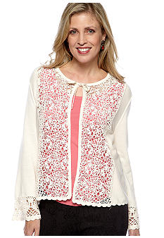 Skye's the Limit Winter Garden Essential Lace Front Cardigan