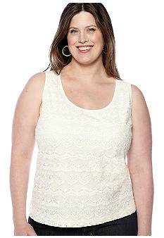 Skye's the Limit Plus Size Essential Lace Front Tank