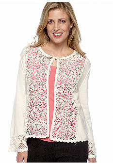 Skye's the Limit Petite Essential Lace Front Cardigan