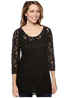 Skye's the Limit Petite Essential Lace Tunic with Tank