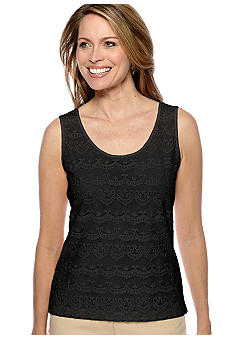 Skye's the Limit Petite Essential Lace Front Tank