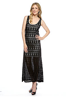 Skye's the Limit Pop Art Lace Maxi Dress with Short Lining