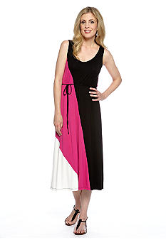 Skye's the Limit Pop Art Color Block Maxi Dress