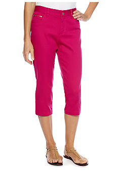 Skye's the Limit Petite Pop Art Zip Pocket Capri
