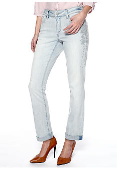 DKNY Jeans Rolled City Jean with Top Stitching
