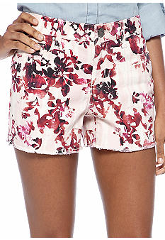 DKNY Jeans Floral Cut Off Short